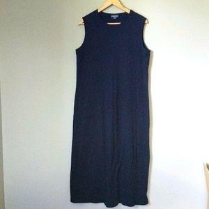 Lands' End Black Cotton Maxi Dress XL